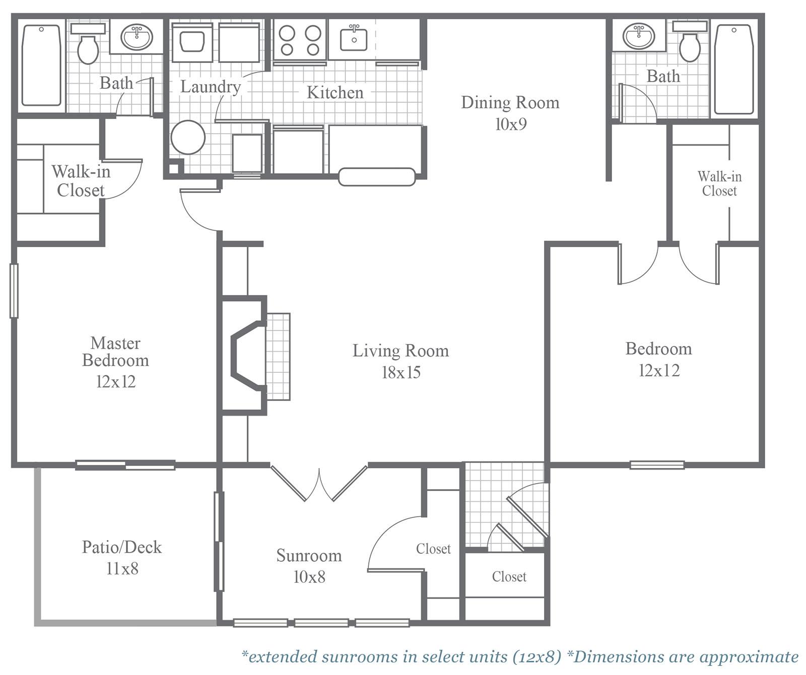 Classic floor plans calibre woods for 12x12 kitchen floor plan